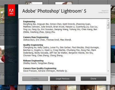 Adobe Lightrom 5.4